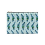 Background Of Beautiful Peacock Feathers Cosmetic Bag (Medium)
