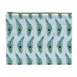 Background Of Beautiful Peacock Feathers Cosmetic Bag (XL)