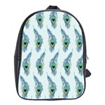 Background Of Beautiful Peacock Feathers School Bags(Large)
