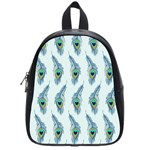 Background Of Beautiful Peacock Feathers School Bags (Small)