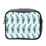 Background Of Beautiful Peacock Feathers Mini Toiletries Bag 2-Side