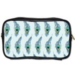 Background Of Beautiful Peacock Feathers Toiletries Bags