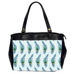 Background Of Beautiful Peacock Feathers Office Handbags (2 Sides)  by Nexatart
