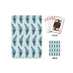 Background Of Beautiful Peacock Feathers Playing Cards (Mini)