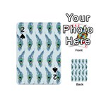 Background Of Beautiful Peacock Feathers Playing Cards 54 (Mini)