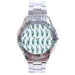 Background Of Beautiful Peacock Feathers Stainless Steel Analogue Watch