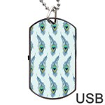 Background Of Beautiful Peacock Feathers Dog Tag USB Flash (Two Sides)