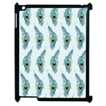 Background Of Beautiful Peacock Feathers Apple iPad 2 Case (Black)
