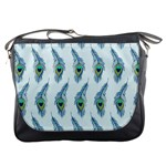 Background Of Beautiful Peacock Feathers Messenger Bags