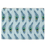 Background Of Beautiful Peacock Feathers Cosmetic Bag (XXL)