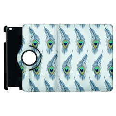 Background Of Beautiful Peacock Feathers Apple Ipad 2 Flip 360 Case by Nexatart
