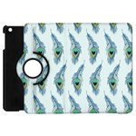 Background Of Beautiful Peacock Feathers Apple iPad Mini Flip 360 Case