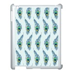 Background Of Beautiful Peacock Feathers Apple iPad 3/4 Case (White)