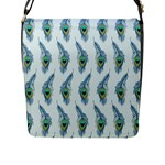 Background Of Beautiful Peacock Feathers Flap Messenger Bag (L)
