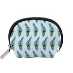 Background Of Beautiful Peacock Feathers Accessory Pouches (Small)