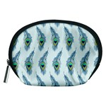 Background Of Beautiful Peacock Feathers Accessory Pouches (Medium)