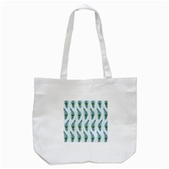Background Of Beautiful Peacock Feathers Tote Bag (white) by Nexatart