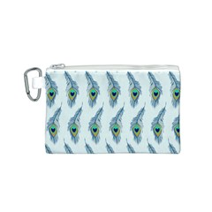 Background Of Beautiful Peacock Feathers Canvas Cosmetic Bag (s) by Nexatart