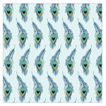 Background Of Beautiful Peacock Feathers Large Satin Scarf (Square)