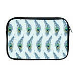 Background Of Beautiful Peacock Feathers Apple MacBook Pro 17  Zipper Case
