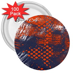 Dark Blue Red And White Messy Background 3  Buttons (100 Pack)  by Nexatart
