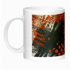 Dark Blue Red And White Messy Background Night Luminous Mugs by Nexatart