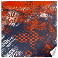 Dark Blue Red And White Messy Background Canvas 12  X 12   by Nexatart