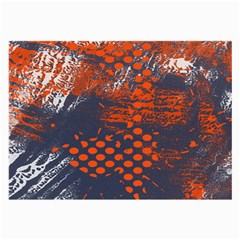 Dark Blue Red And White Messy Background Large Glasses Cloth (2 Side) by Nexatart