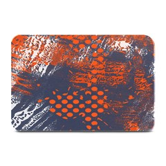 Dark Blue Red And White Messy Background Plate Mats by Nexatart