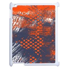 Dark Blue Red And White Messy Background Apple Ipad 2 Case (white) by Nexatart