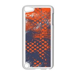 Dark Blue Red And White Messy Background Apple Ipod Touch 5 Case (white) by Nexatart