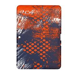 Dark Blue Red And White Messy Background Samsung Galaxy Tab 2 (10 1 ) P5100 Hardshell Case  by Nexatart