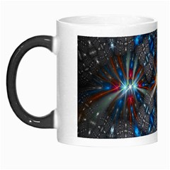 Fancy Fractal Pattern Background Accented With Pretty Colors Morph Mugs