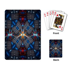Fancy Fractal Pattern Background Accented With Pretty Colors Playing Card by Nexatart