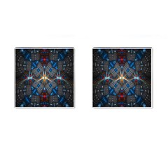 Fancy Fractal Pattern Background Accented With Pretty Colors Cufflinks (square) by Nexatart