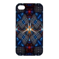 Fancy Fractal Pattern Background Accented With Pretty Colors Apple Iphone 4/4s Hardshell Case by Nexatart