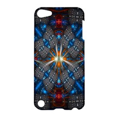 Fancy Fractal Pattern Background Accented With Pretty Colors Apple Ipod Touch 5 Hardshell Case