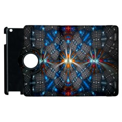 Fancy Fractal Pattern Background Accented With Pretty Colors Apple Ipad 3/4 Flip 360 Case by Nexatart