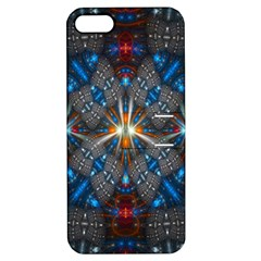 Fancy Fractal Pattern Background Accented With Pretty Colors Apple Iphone 5 Hardshell Case With Stand by Nexatart