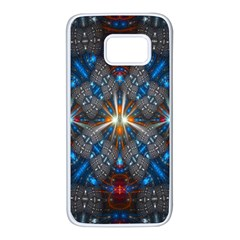 Fancy Fractal Pattern Background Accented With Pretty Colors Samsung Galaxy S7 White Seamless Case