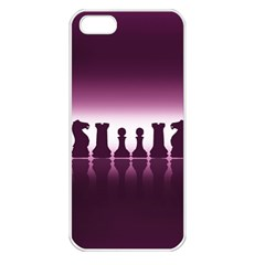 Chess Pieces Apple Iphone 5 Seamless Case (white) by Valentinaart