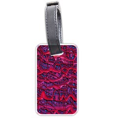 Plastic Mattress Background Luggage Tags (one Side)