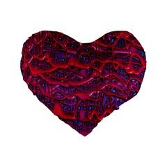 Plastic Mattress Background Standard 16  Premium Flano Heart Shape Cushions by Nexatart