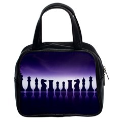 Chess Pieces Classic Handbags (2 Sides) by Valentinaart