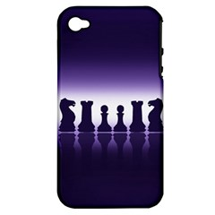 Chess Pieces Apple Iphone 4/4s Hardshell Case (pc+silicone) by Valentinaart