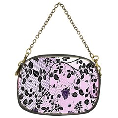 Floral Pattern Background Chain Purses (one Side)  by Nexatart