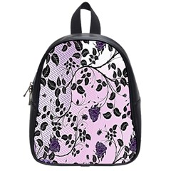 Floral Pattern Background School Bags (small)  by Nexatart