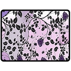 Floral Pattern Background Double Sided Fleece Blanket (large)  by Nexatart
