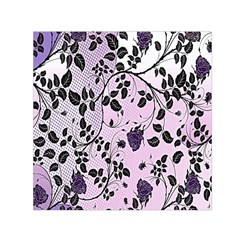 Floral Pattern Background Small Satin Scarf (square) by Nexatart