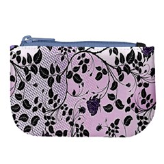 Floral Pattern Background Large Coin Purse by Nexatart